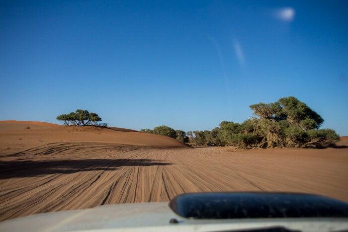 Deserto da Namíbia - encalhando de 4x4
