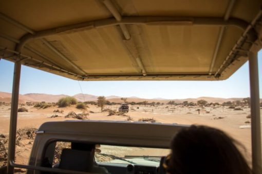 Deserto da Namíbia - Shuttle até o estacionamento