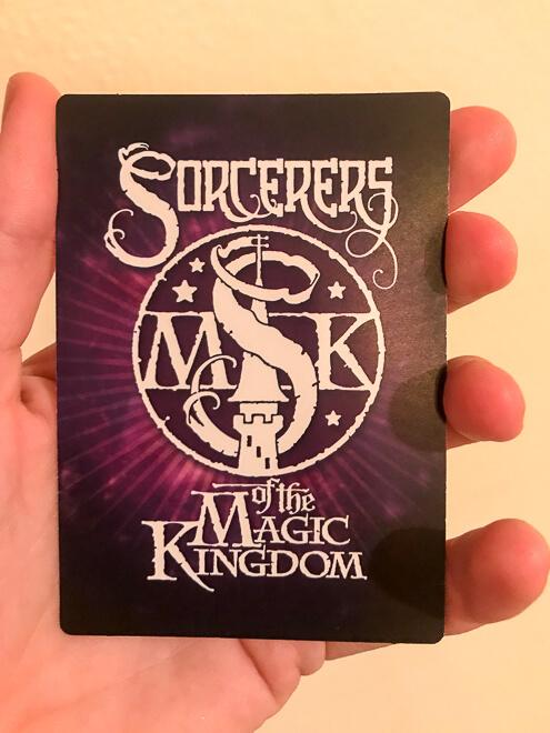 Atrações do Magic Kingdom - carta do jogo sorcerers of magic kingdom