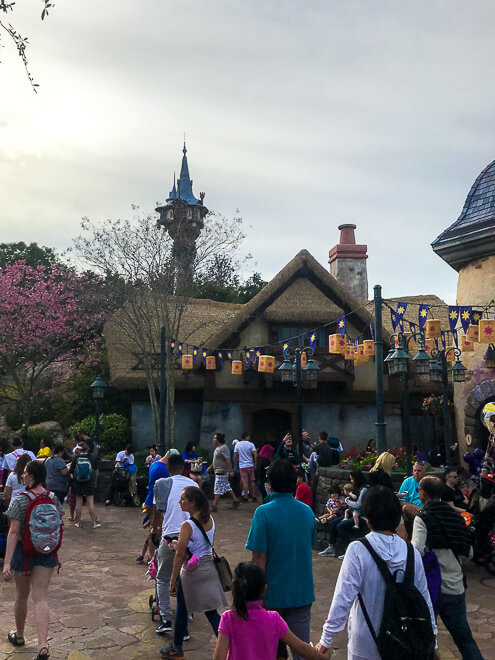 Nova área dedicada a Rapunzel e a Bela e a Fera