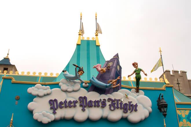 Atrações do Magic Kingdom - atração clássica Peter Pans Flight