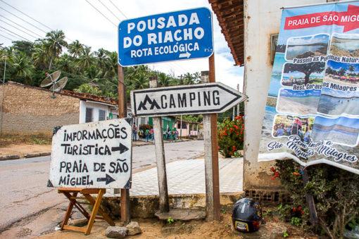 Praias de Alagoas - entrada para São Miguel dos Milagres