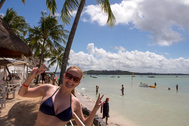 Restaurante Bora Bora pé na areia da Praia dos Carneiros