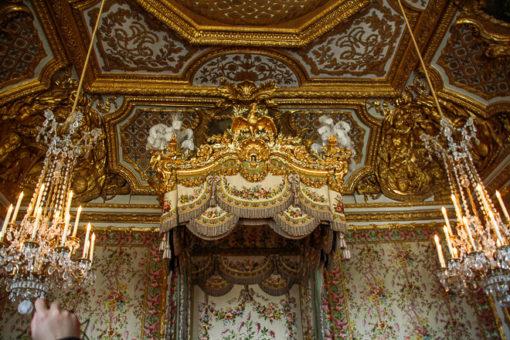 Dossel do quarto da rainha no Palácio de Versalhes