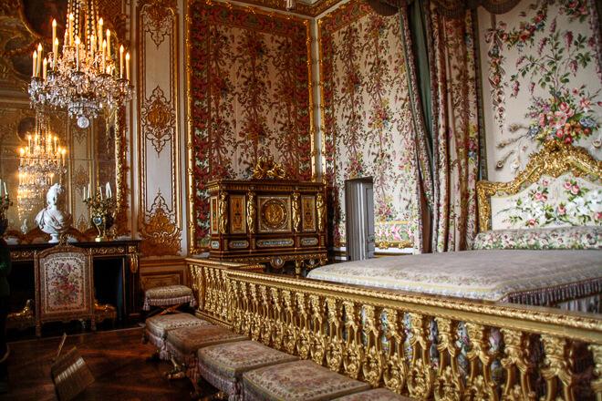 Quarto das Rainhas no Palácio de Versalhes Paris. Aqui dormia Maria Antonieta