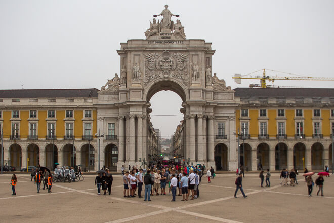Arco da Augusta em Lisboa