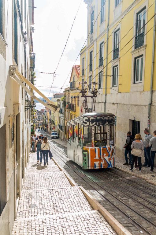 O que fazer em Lisboa em 1 dia - A parte de cima do Ascensor da Bica