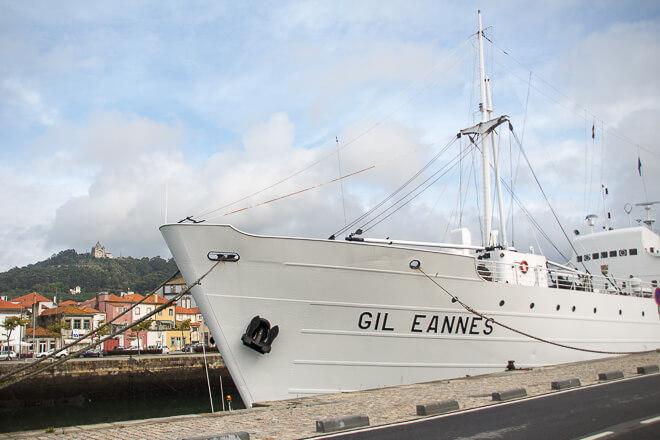 Navio Gil Eannes ancorado em Viana do Castelo POrtugal