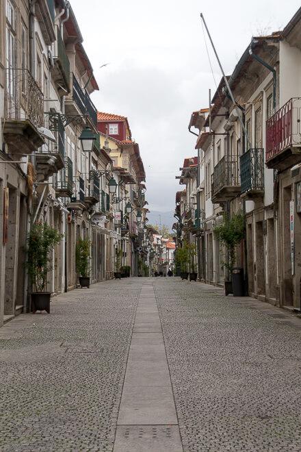 Rua Manoel Espregueira em Viana do Castelo Portugal
