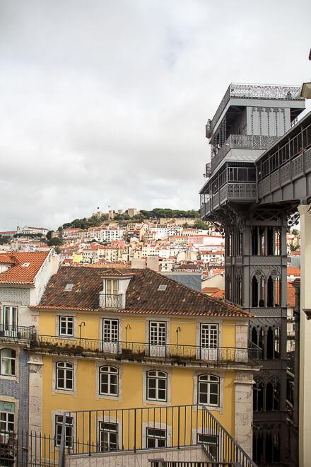 O que fazer em Lisboa em 1 dia - alto do elevador de Santa Justa