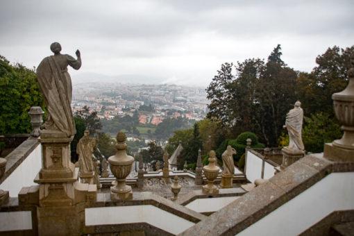 Braga Portugal vista de cima de Bom Jesus do Monte.