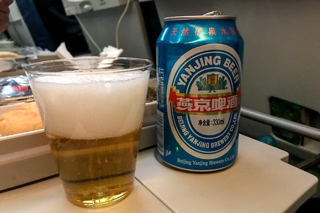 Como é voar na Air China - cerveja