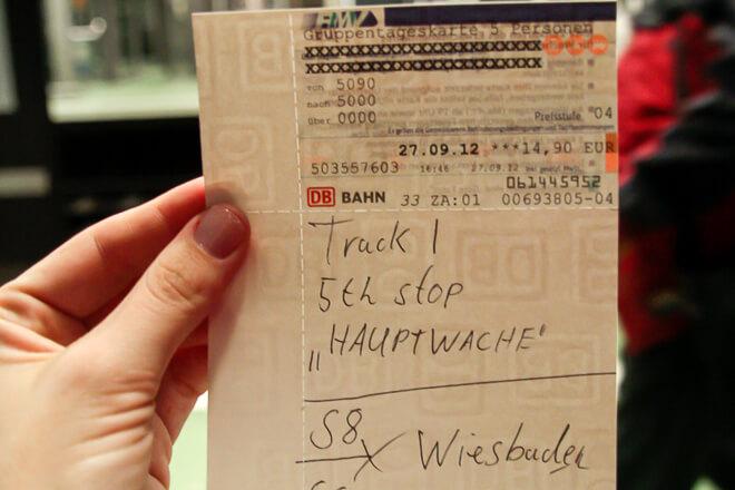 Bilhete de Trem na Alemanha