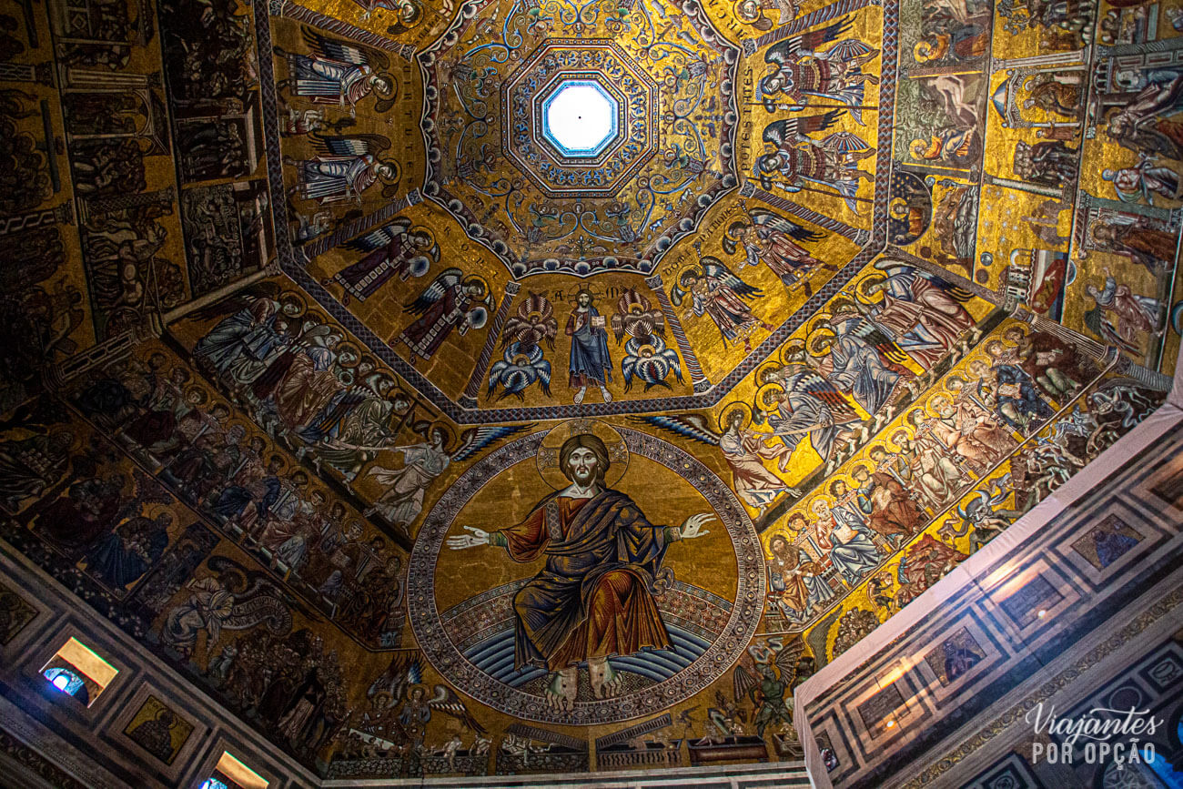 Teto octogonal do Batistério de Florença