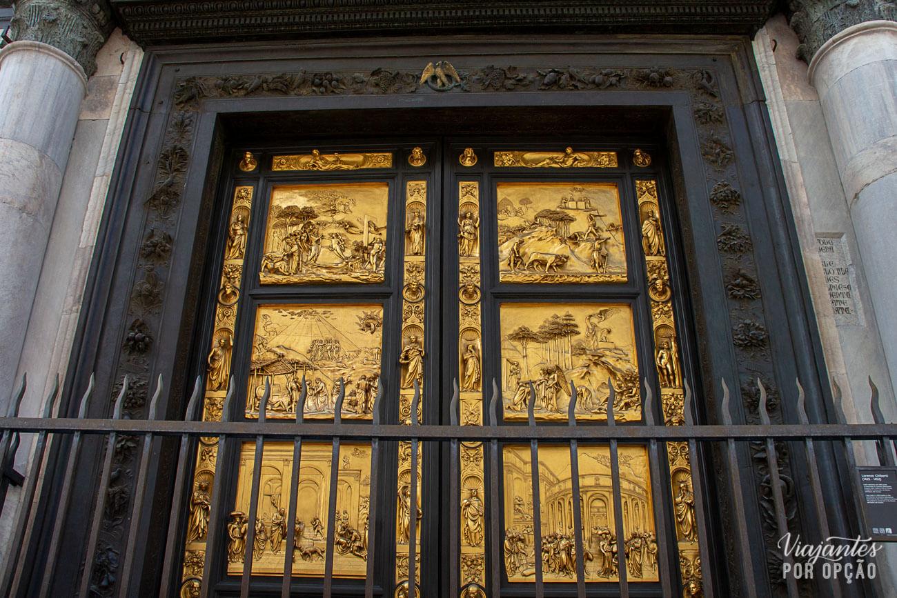 Batistério de Florença - portões do paraíso
