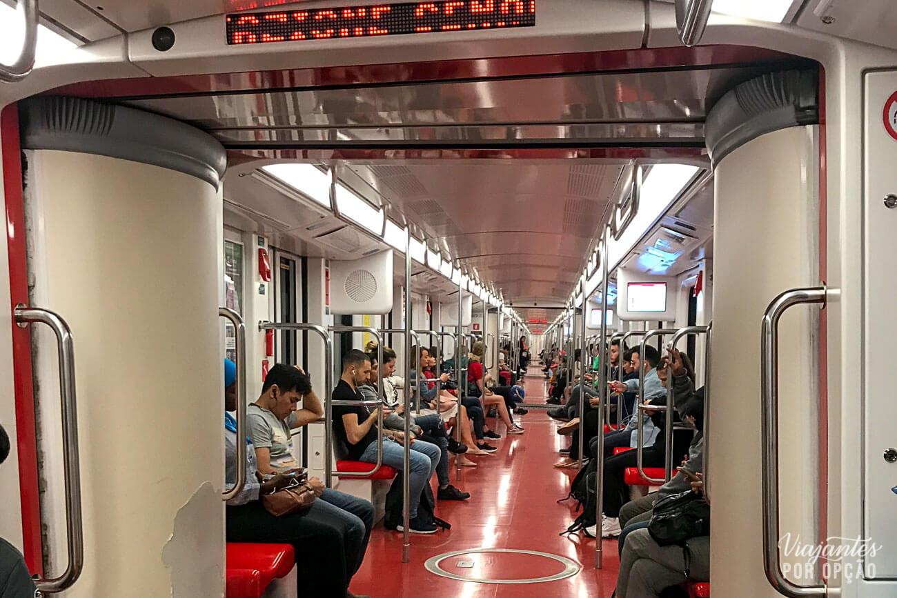 Metrô em Milão