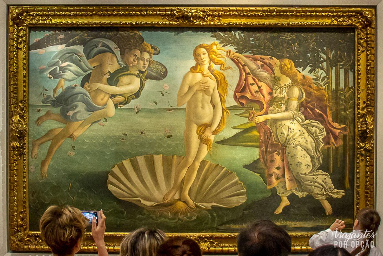 palazzo vecchio e outros museus de florença - nascimento de vênus