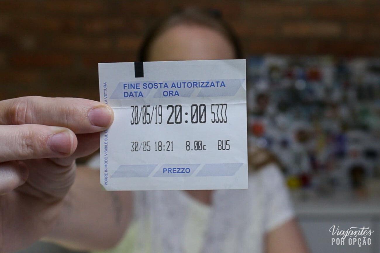 Ticket de Parquímetro Itália